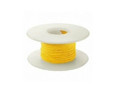 30 AWG Kynar Wire Wrap UL1423 Solid Wiremod type 100 foot spools YELLOW NEW!