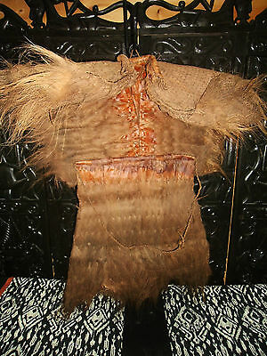 Vintage Coir Coconut Fiber Ceramorial Warriors Cape / Raincoat