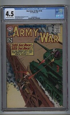 Our Army at War 116 (CGC 4.5) OW/W pgs; Abel; Andru; Kubert; DC; 1962 (c#16794)