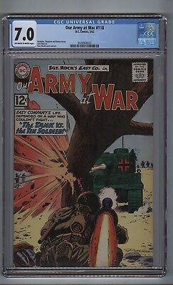 Our Army at War 118 (CGC 7.0) OW/W pages; Sunny injured; Abel; Health (c#16795)
