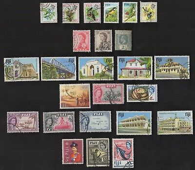 25 FIJI All Different Stamps (ALL YEARS) (C78)