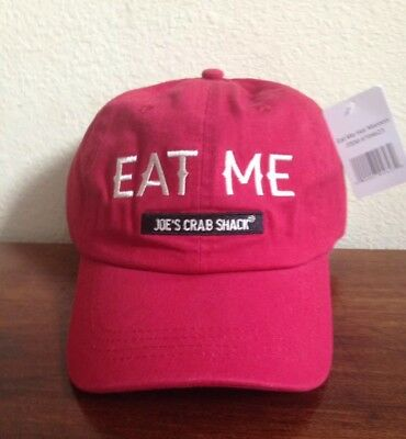 "Joe's Crab Shack ""Eat Me"" Baseball Cap Hat Bar & Sea Food Restaurant"