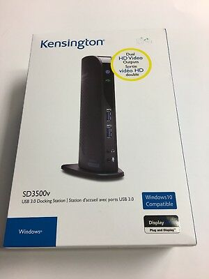 Kensington SD3500v Universal USB 3.0 Dual Display Docking Station K33972US