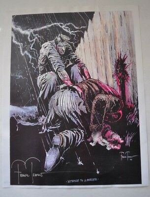Signed Frank Teran numbered Comic Art #10 of 29 (Witness To A Murder)