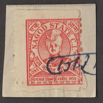 1 NAGOD INDIAN STATE  Stamp (LOT 1)  (C78)