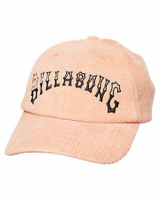 New Billabong Women's Curvewave Cord Cap Cotton Polyester Corduroy Pink