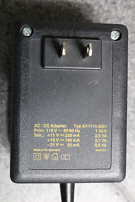 Sartorius L,H series balance power adapter A7-1174-3001 60 day warranty
