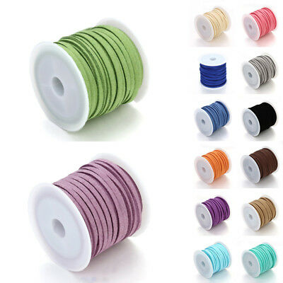 Thong Craft Leather String Suede Wire Soft Thread 1 Lace Rope Flat Cord Various