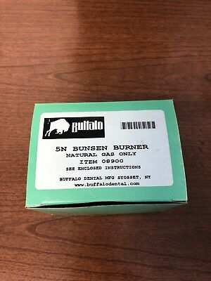 5N Bunsen Burner (Natural Gas Only) Buffalo Brand, New In Box