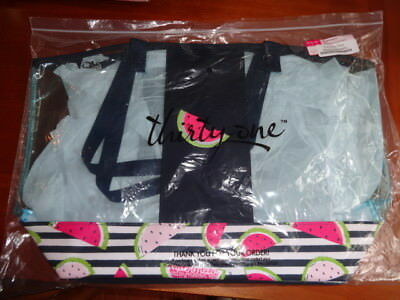 Thirty-One Thirty One 31 Gifts In the Clear Tote Slice of Summer Watermelon NEW