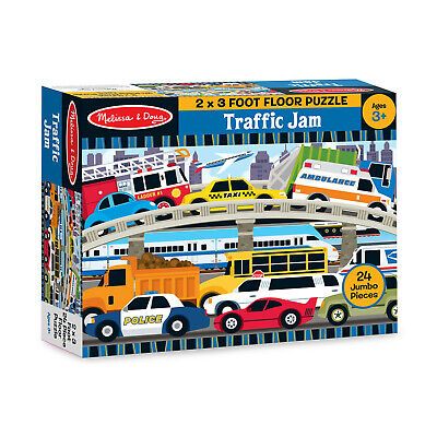 Melissa & Doug Floor Puzzle - Traffic Jam - Ages 3 and Up   fnt