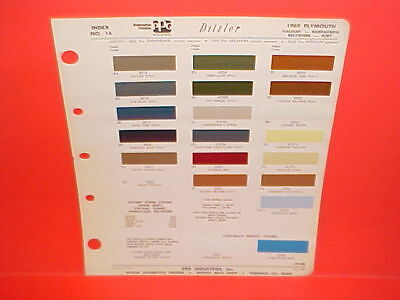 1969 Plymouth Belvedere Road Runner Gtx Barracuda Fury Convertible Paint Chips