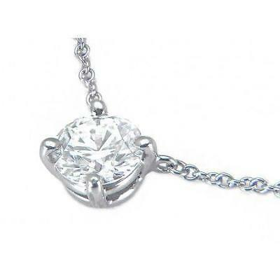 1ct round solitaire pendant necklace solid 14k white gold 6500 1 ct solitaire round diamond necklace pendant white solid gold 14k wg13768 aloadofball Choice Image