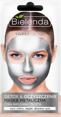 BIELENDA SILVER DETOX - DETOX & PURIFICATION Detoxifying Metallic Face Mask