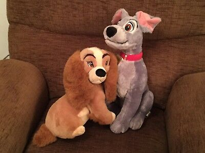 Disney Store Lady And The Tramp Plush Toys
