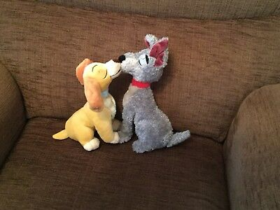 Disney Lady And The Tramp Kissing Plush Toy