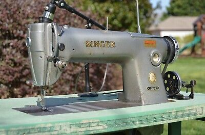 Singer 281-1 Industrial Sewing Machine with Table and Accessories