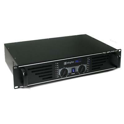 Amplificatore Dj Pa 1200 Watt Design Nero Led Blu Nuovo