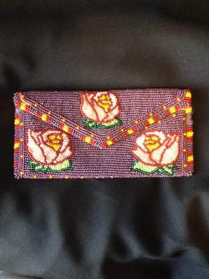 Native American Beaded Wallet/Checkbook Cover