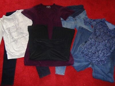 Lot Of Maternity Clothes H&m Motherhood Jeans Dress & Tops Outfits Womens Size M