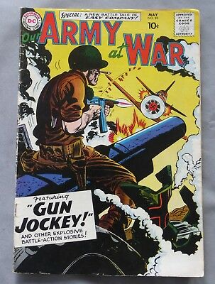 Original Vtg Our ARMY at WAR #82 First Sgt Rock Easy Company DC Comic May 5 1959