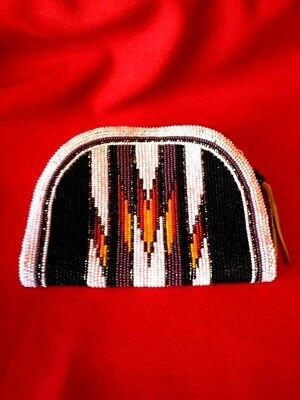 Native American Beaded Coin Purse Nearly Perfect & Extra Large Size