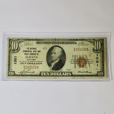 1929 $10 Federal Reserve Bank Of - Albany - New York
