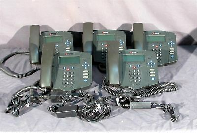 Lot Of 5 Polycom 2201-11402-001 Ip-430 Sip Soundpoint Ip Telephones