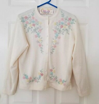 Beautiful vintage 50's beaded sweater