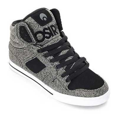 0a43d818f9056 New In Box Men's 10 Osiris Clone Skate Shoes In Black Grey Knit 1322-2422