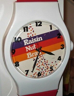 ULTRA RARE Raisin Nut Bran Cereal GIANT Wrist Watch Promotional Wall Clock