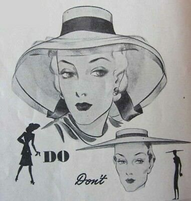 1940s * Fashion Book ~ Dos + Don'ts For TALL GIRL Hats Dresses by Colette FUN