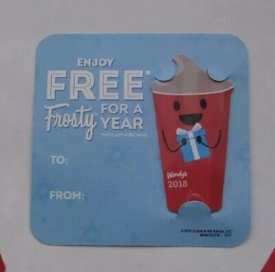 2018 Wendy's FREE FROSTY EVERY VISIT keytag card
