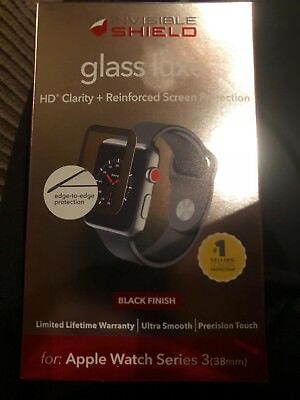 apple watch series 3 invisible shield glass luxe 38mm space gray