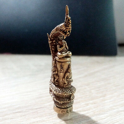 Thai Buddha Amulet Nagas pole statue Deities Limited Sacred Lucky Rich NBZ