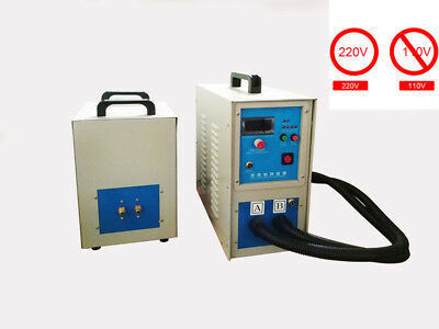Dual Station High Frequency Induction Heater Furnace Melting Heating  15KW 220V