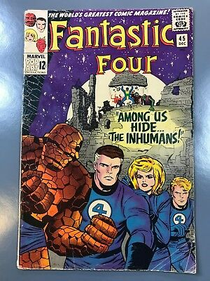 The Fantastic Four No. #45 First 1st Appearance Inhumans Jack Kirby Lee *KEY*