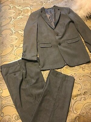 Boys Gray Ralph Lauren Suit Blazer 18 Reg Pants 18 Reg