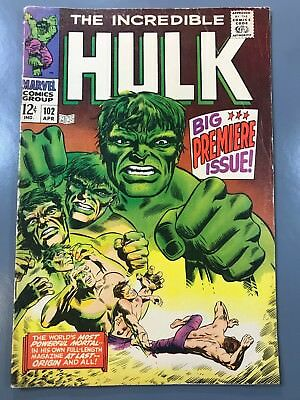 The Incredible Hulk No. #102 Origin Retold 1st Issue After TTA Silver Age Key*