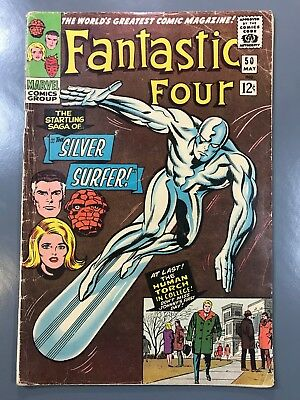 The Fantastic Four No. #50 Silver Surfer Battles Galactus Kirby Classic Cover