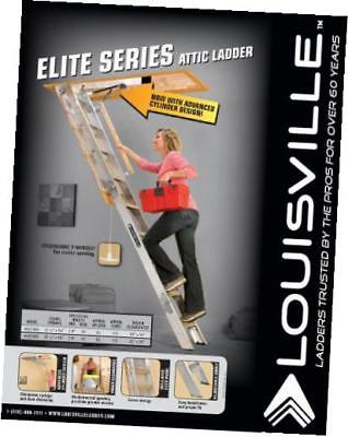 aa229gs elite aluminum attic ladder 350 pound capacity 22.5-inch by 54-inch