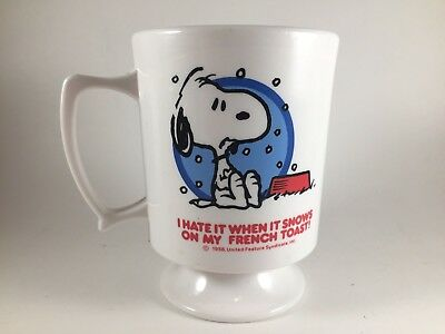 Vintage 1958 United Feature Syndicate Snoopy Peanuts Coffee Cup Mug