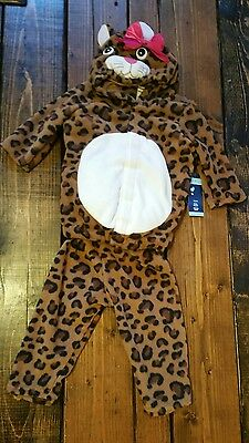 New Old Navy Cat Costume 6-12 Months Baby Girls Leopard  2 Piece Halloween NWT