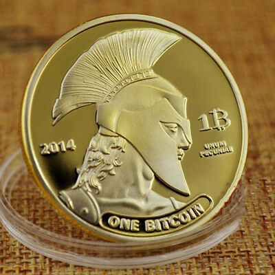 Bitcoin Gold Plated Titan Commemorative Coin BTC Collectible Physical