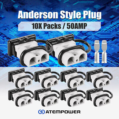 Premium 6x 50AMP Anderson Style Plug Solar Power Exterior Connector DC
