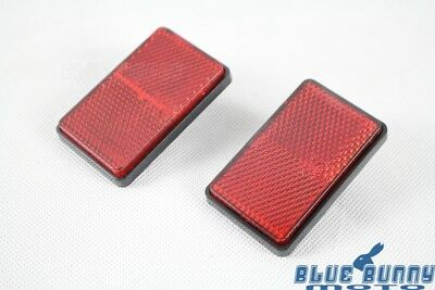 Motorcycle Red Bolt On Number Plate Reflector Circular Rectangle ECE/SAE For ATV