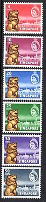 1959 SINGAPORE NEW CONSTITUTION SG53-58 mint very lightly hinged