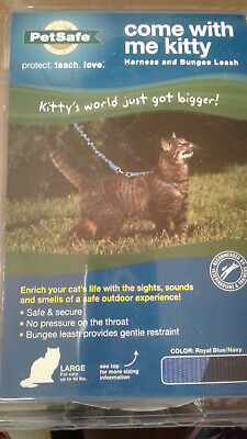 PetSafe Large Cat Harness Bungee Leash come with me kitty Royal Blue Navy