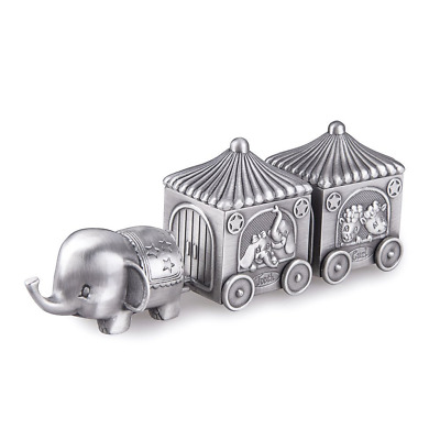 Feyarl First Curl and Tooth Elephant Keepsake Box Train Souvenir Box for Kids, G