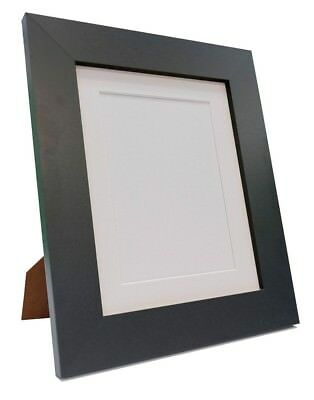 Quality Metro Black Poster Picture Photo Frame With Black White or Ivory Mounts